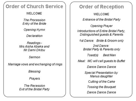order of marriage service template 1000 images about order of service on