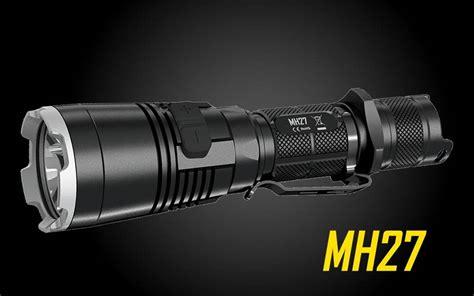 blue light led flashlight nitecore mh27 1000 lumen usb rechargeable multi colored