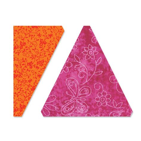 Sizzix Quilting Dies by Sizzix Triangles Isosceles And Right 4 5 Inch Assembled Bigz L Die