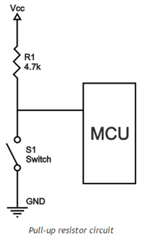 pull resistor microcontroller what does pull up resistor means