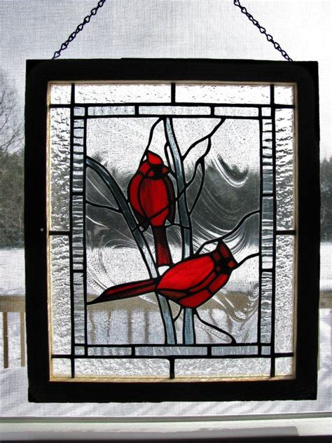 stained glass cardinal pattern stained glass cardinal