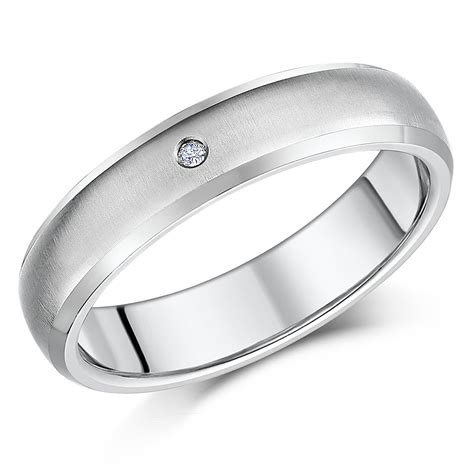 Wedding Ring Titanium by 5mm Titanium Engagement Wedding Ring Titanium