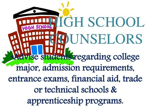 school counselor requirements guidance counseling report