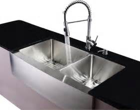Modern Kitchen Sink Stainless Steel Farmhouse Kitchen Sink Faucet Dispenser Contemporary Kitchen Sinks By