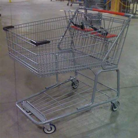 used carts used jumbo wire metal grocery shopping cart premier carts