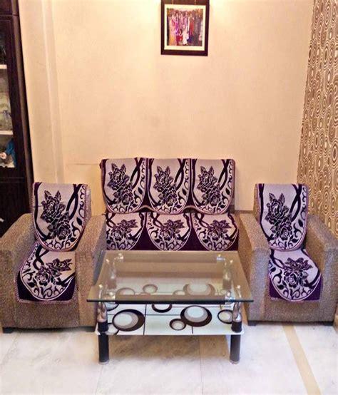 purple chenille sofa shc chenille purple reversible sofa cover set best price