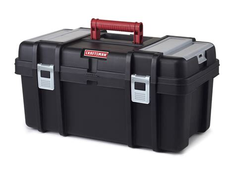 tool box craftsman 22 inch tool box with tray black red shop
