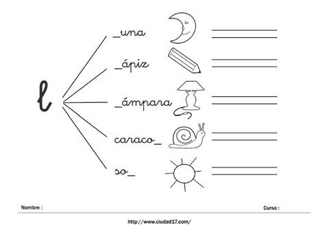 fichas para imprimir para aprender a leer ejercicios de fichas educativas de escritura