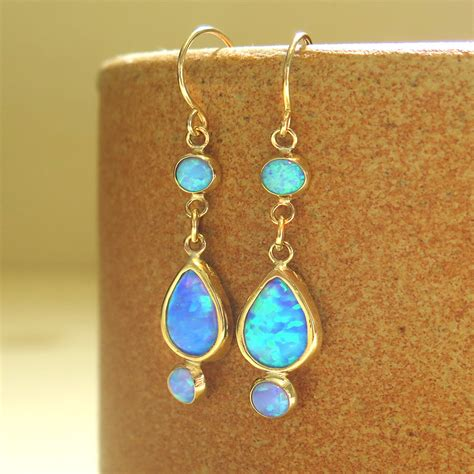 turquoise opal 100 turquoise opal earrings gold solid opal