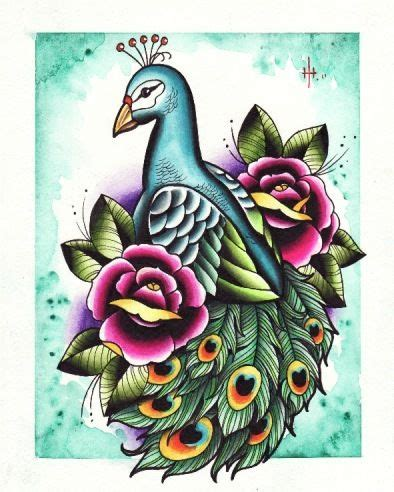 traditional peacock tattoo traditional style peacock and roses flash tattoos