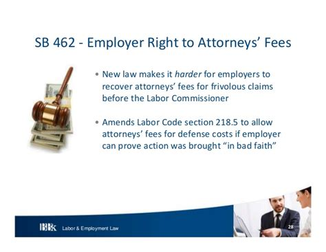 labor code section 1194 2 bb k labor and employment update 2013