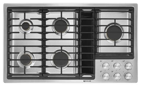 cooktop downdraft jenn air stainless gas cooktop with downdraft jgd3536gs