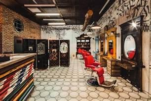 Ideasdesign Hyper Masculine Barbershop Designs Barbershop Design
