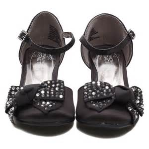 kenneth cole black sequin bow heel dress shoes