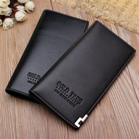 Dompet Genggam Vintage dompet pria fashion pria bifold dompet mewah kulit panjang