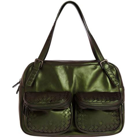Bottega Venetta Green bottega veneta large irid two handle shoulder bag in green lyst