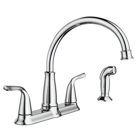 moen 2 handle kitchen faucet moen brecklyn 2 handle standard kitchen faucet with side sprayer in chrome 87102 the home depot