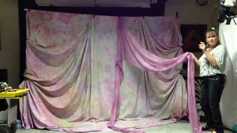 draped fabric wedding backdrop backdrop draping lesson part 1 youtube