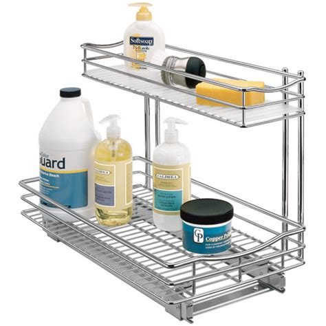 The Sink Shelf Organizer by Pull Out Sink Organizer Chrome In Pull Out