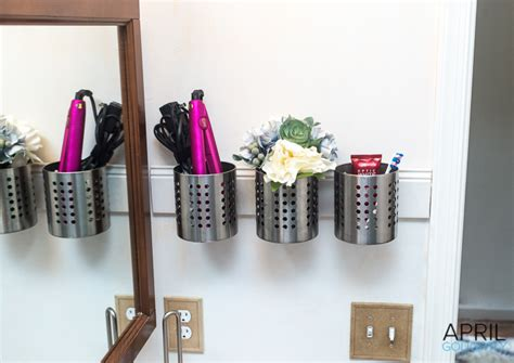bathroom organizers diy diy bathroom organizer april golightly