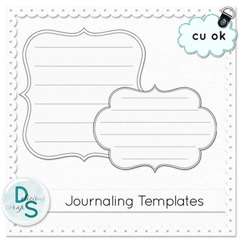 journaling template cu digital scrapbooking pinterest