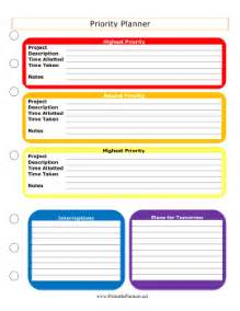 weekly priorities template priority planner