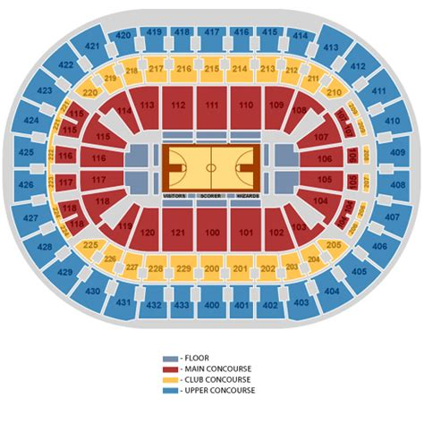 verizon center seating map wizards seating charts insidearenas