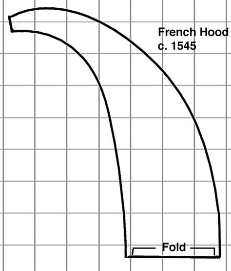pattern for french hood constructing a french hood