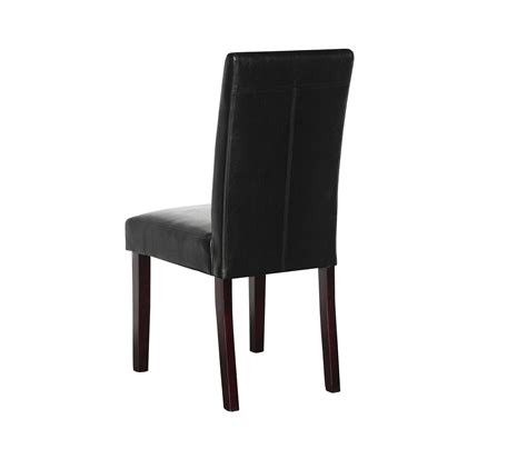 high back leather dining chairs australia buy 2 x pu leather palermo dining chairs high back black