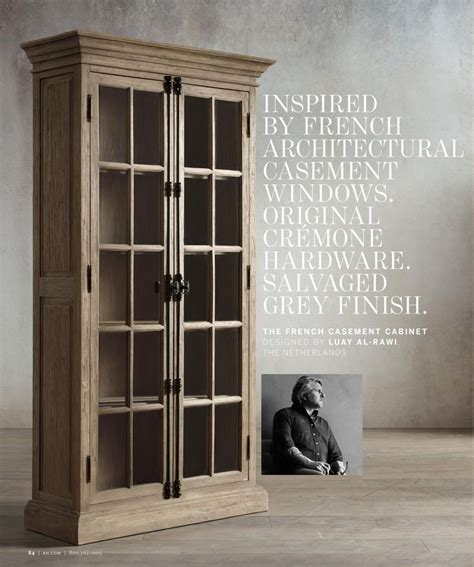 restoration hardware liquor cabinet rh the french casement cabinet designed by luay al