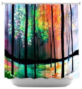 artistic shower curtains shower curtain artistic the four seasons contemporary