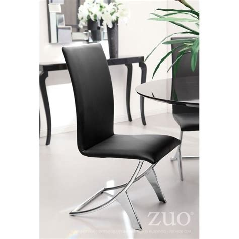 zuo dining chairs zuo delfin dining chair in black set of 2 102101