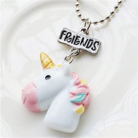 lettere per fidanzato 2pcs set unicorno ciondolo miglior amico lettera