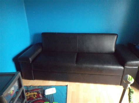 black pull out sofa bed black leather sofa bed pull out bed for sale in gorey