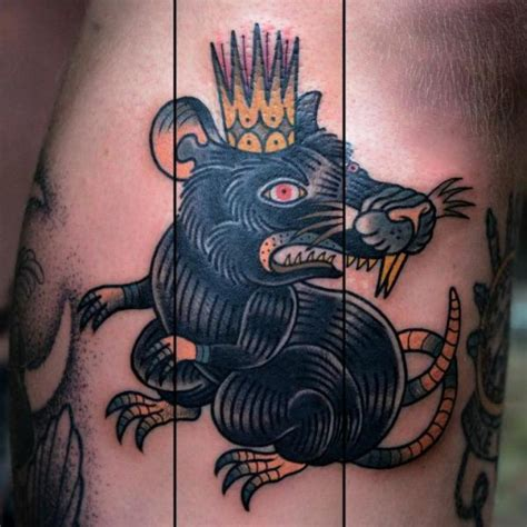 new school mouse tattoo old school crown mouse tattoo by philip yarnell