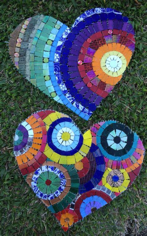 heart mosaic pattern mosaico cora 231 227 o mosaic heart by schandra mosaicos