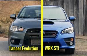 Mitsubishi Lancer Evolution Vs Subaru Wrx Sti 2015 Subaru Wrx Sti Vs Mitsubishi Lancer Evolution X Gsr