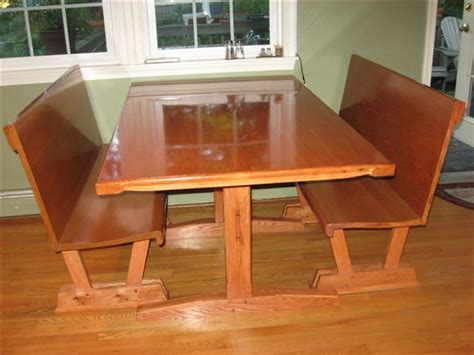 How Many Coats Of Polyurethane On Kitchen Table by Kitchentable And Benches Finewoodworking