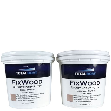 boat repair putty totalboat fixwood wood repair epoxy putty