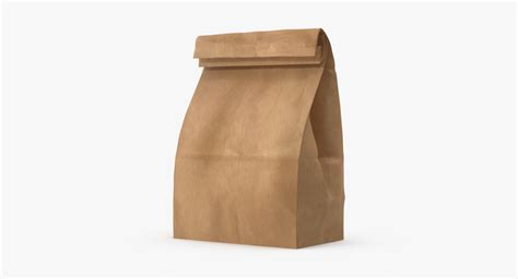 How To Make A Paper Lunch Bag - brown paper lunch bag 3d model