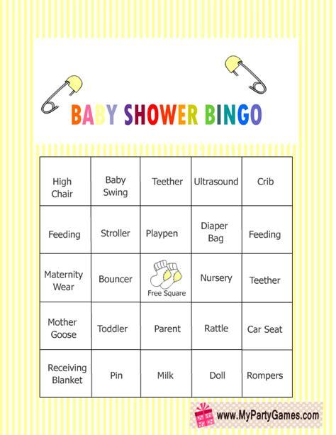 Baby Bingo Shower by Free Printable Baby Shower Bingo Cards