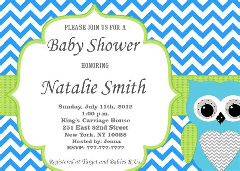 baby shower invitations with photo template publisher invitation templates free list format