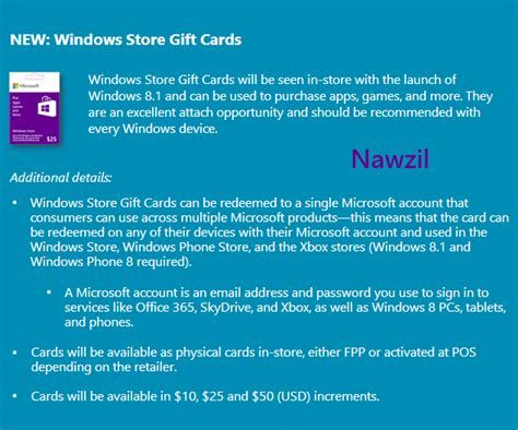 Windows Gift Card - microsoft windows gift cards get redesigned before launch winsource