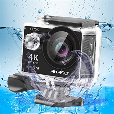 Terbatas Waterproof Sports 4k Ultra Hd 12mp 2 Inch Lcd akaso ek7000 4k sport ultra hd camcorder 12mp wifi waterproof 170 degree