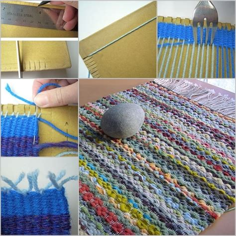 how to make a rug out of rope diy yarn projects that don t require knitting