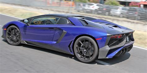 lamborghini aventador sv roadster spied almost undisguised photos 1 of 3