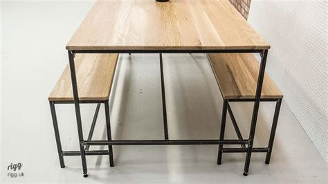 industrial dining table set industrial dining table bench set