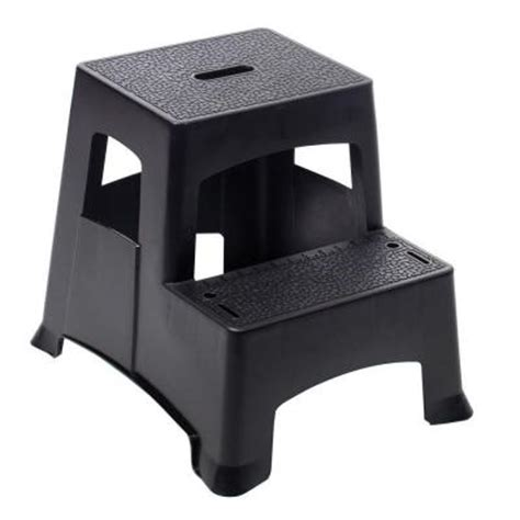 Home Depot Step Stool by Gorilla Ladders 2 Step Plastic Project Stool Ladder Pl2 13 The Home Depot