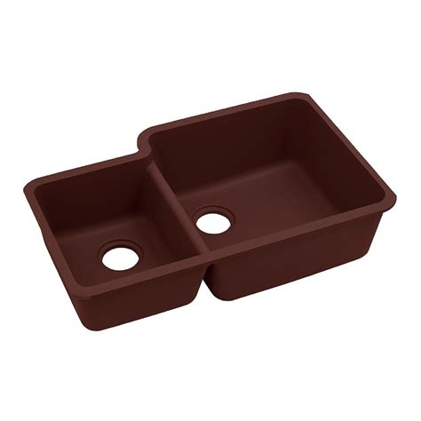 Elkay Quartz Classic Undermount Composite 33 In Single Classic Kitchen Sink