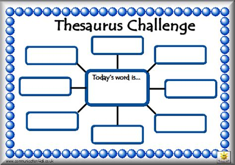 Thesaurus Template literacy